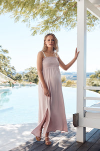 Hvar Maxi Dress Blush, Legoe Heritage,