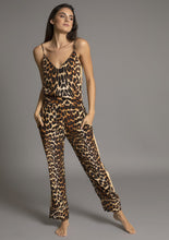 Load image into Gallery viewer, PALOMA PYJAMA PANT in LEOPARD w CAMEL TUXEDO STRIPE | Luna Atelier