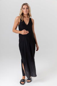 Indie Silk Dress- Black | LEGOE