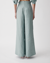 Load image into Gallery viewer, Marilyn Linen Palazzo Pants Seaside Blue | Joslin
