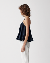 Load image into Gallery viewer, Aviana Linen Camisole - Navy | Joslin Studio