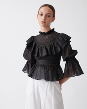 Load image into Gallery viewer, VARINKA COTTON LACE TOP - Black | JOSLIN STUDIO