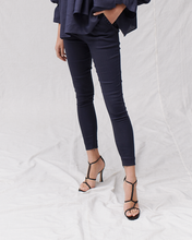 Load image into Gallery viewer, Francis Stretch Linen Pant, Navy | Joslin Studio