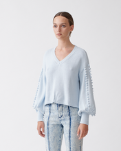 Load image into Gallery viewer, Tyler Cotton Cashmere Knit - Glacial Blue | JOSLIN