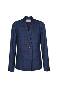 Kennedy Jacket, Blue Check | Hansen & Gretal
