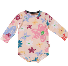 Load image into Gallery viewer, Pansy Organic Romper Long sleeve kip and co