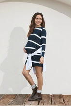 Load image into Gallery viewer, Moss Maternity Dress, Navy Stripe
