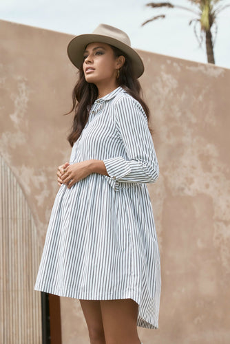 Sienna Shirt Dress Double Black Stripe, Legoe Heritage