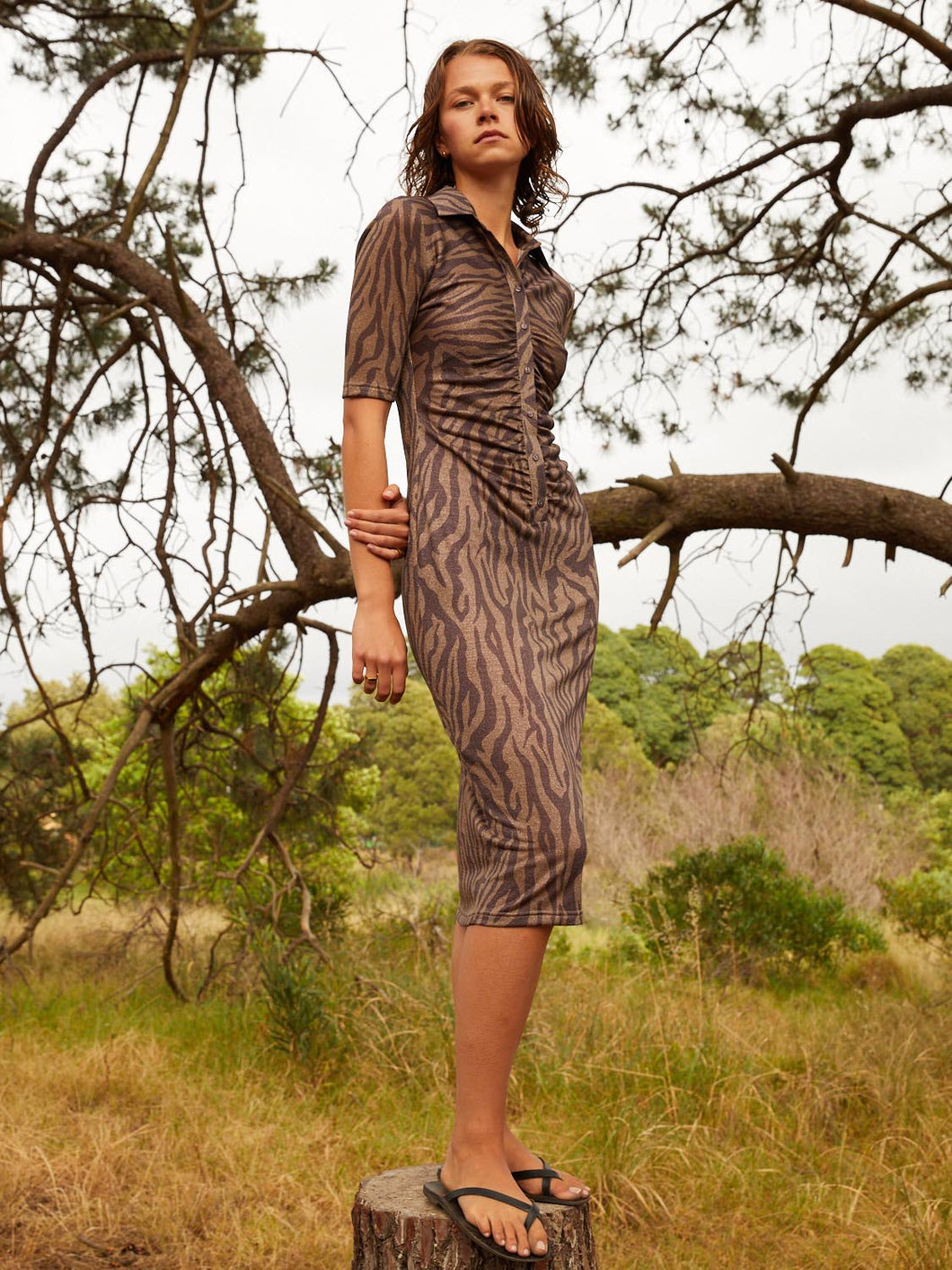 Valencia Dress, Zebra | Hansen & Gretal