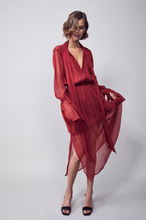 Load image into Gallery viewer, Sintra Silk Midi Dress