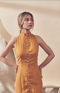 Gold Dust Maxi  Dress (marigold)