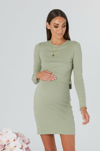 Nadia Mini Dress - Olive | LEGOE