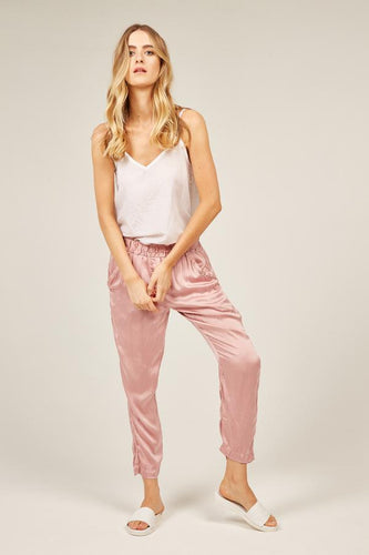 Fluid Evening Pant - Evening Rose