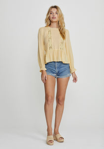 Margot Wren Blouse Lemon