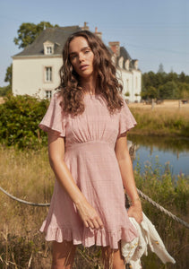 Pia Mini Dress Dusty Pink | Auguste