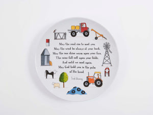 Mixed Farming Blessings, Large Ceramic Plate