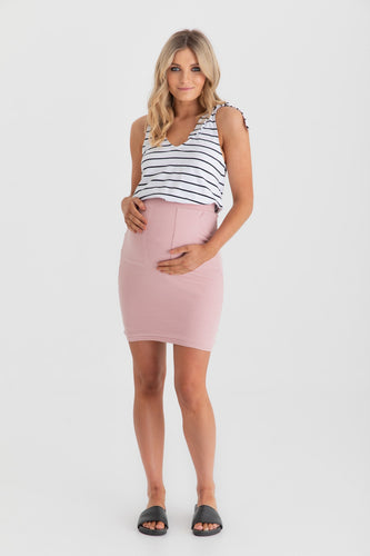Zephyr Mini Skirt (Blush)