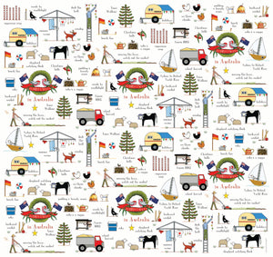 Christmas In Australia Wrapping Paper | Red Tractor Designs