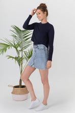 Load image into Gallery viewer, High Waisted Denim Skirt
