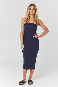 Willow Midi Dress (navy)