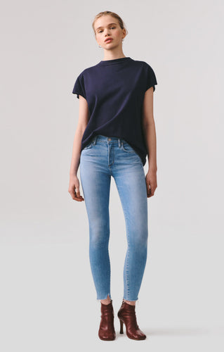 AGOLDE | Sophie Mid Rise Skinny Ankle in Facet