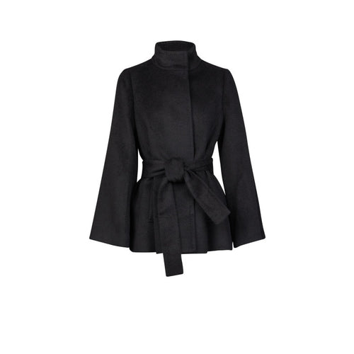 Audrey Alpaca Coat- Black