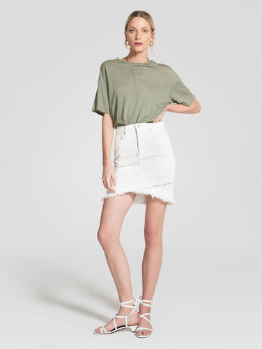 Crossover skirt-Coconut