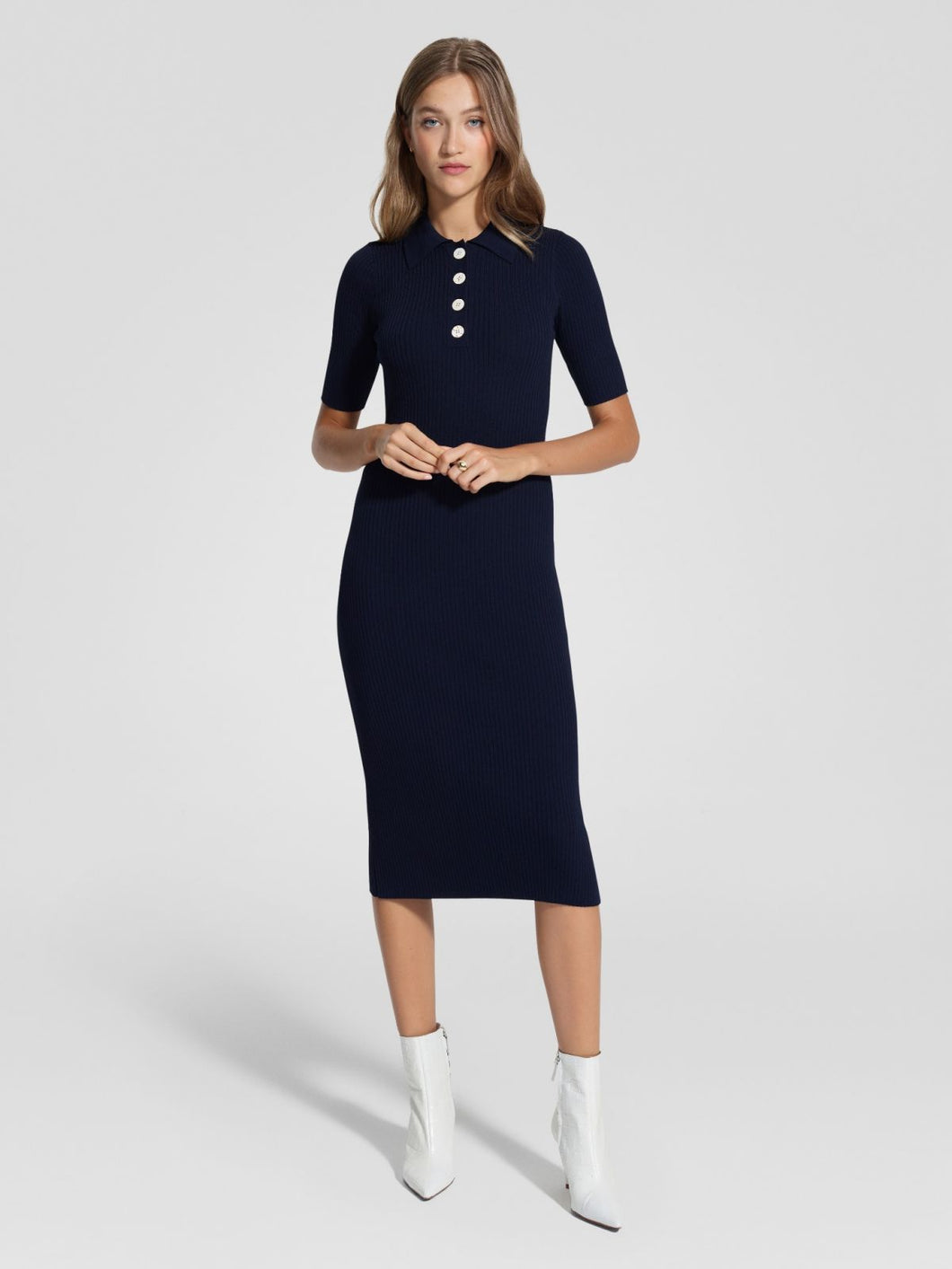Chelsea Dress Navy | Nobody Denim