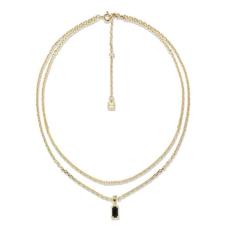 Stevie Double Chain Necklace - F & H
