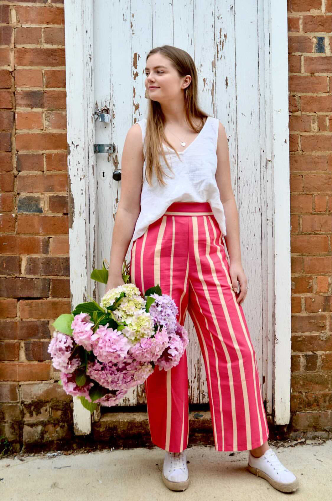 Ginger Pant, Pink & Peach | Castleden & Co