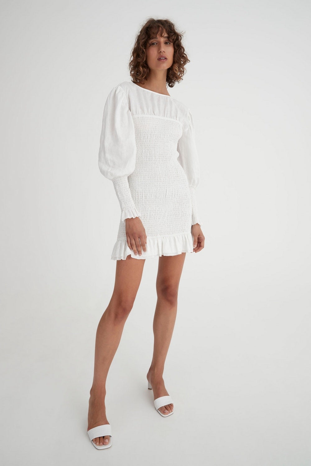 TAMBAR DRESS WHITE hansen and gretal