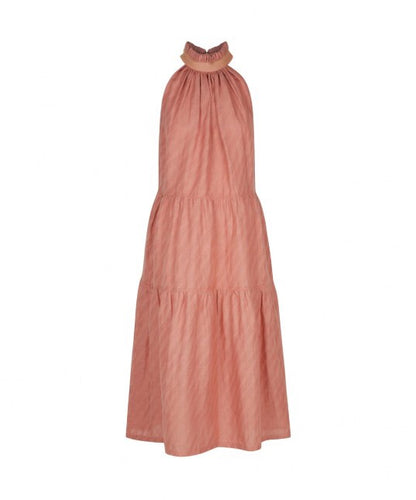 ARIANNE LINEN BLEND DRESS CLAY