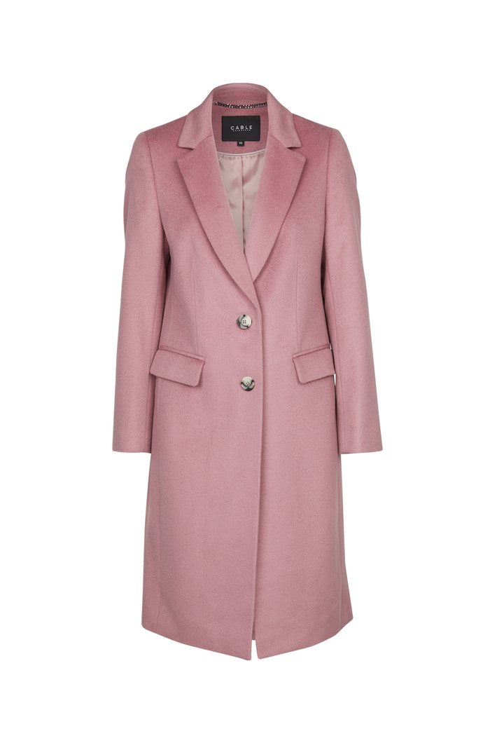 Harrison Wool Coat French Lilac | Cable MELBOURNE