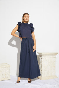 Meres Skirt Deep Blue - Lune Resort