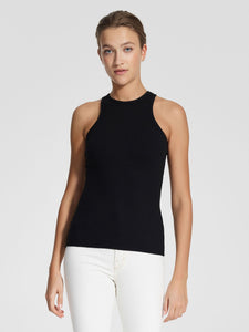 Luxe Rib Cutaway Tank BLACK | Nobody Denim