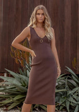 Load image into Gallery viewer, Rustic Knit Midi Dress, Danish Brown | Ministry of Style