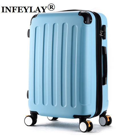 "HOT!Fashion 20""24 inches girl trolley case ABS students lovely Travel waterproof luggage rolling suitcase extension Boarding box"