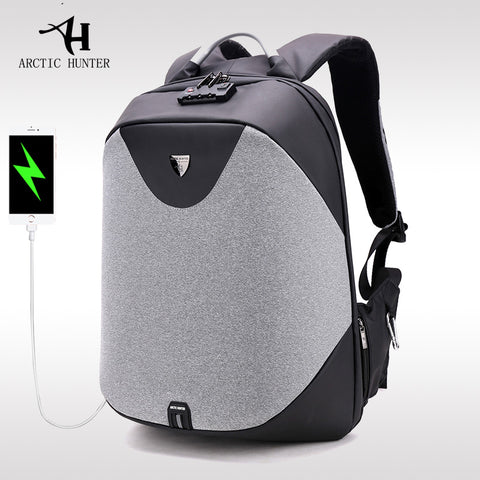 ARCTIC HUNTER New men 's anti - theft shoulder bag multi - functional computer bag college students bag business travel backpack