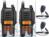 2PCS Baofeng UV-9R walkie talkie 400-520MHz VHF:136-174MHz VHF UHF powerful 8w long distance 10km Waterproof IP67 two way radio