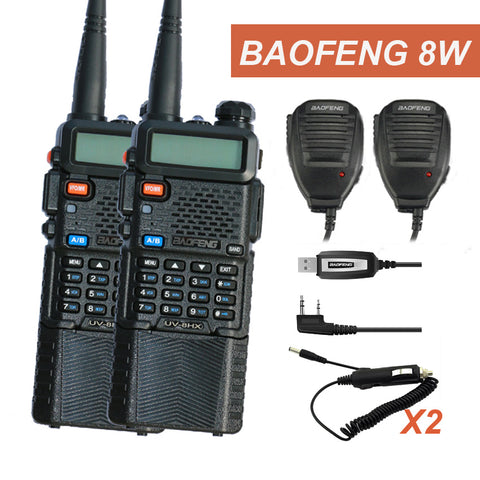 Walkie Talkie 10 KM Set Baofeng Radio UV-8HX professinal Walky Talky Sister Baofeng UV 5R UV-5R 8W Radio UV-9R UV-XR  UV-5RA+SP