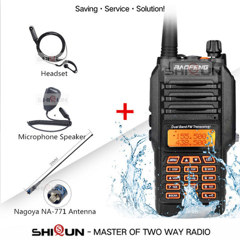 Upgrade Baofeng UV-9R IP67 Waterproof Dual Band 136-174/400-520MHz Ham Radio Baofeng 8W Walkie Talkie 10 KM Baofeng UV 9R UV-82