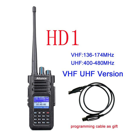 Dual Band DMR Ham Radio Retevis Ailunce HD1 (GPS) Digital Walkie Talkie 10W VHF UHF Amateur Radio Hf Transceiver + Program Cable