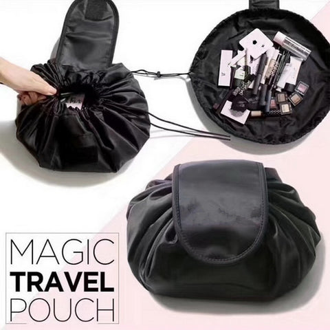 Women Drawstring Cosmetic Fashion Travel Makeup Bag Organizer