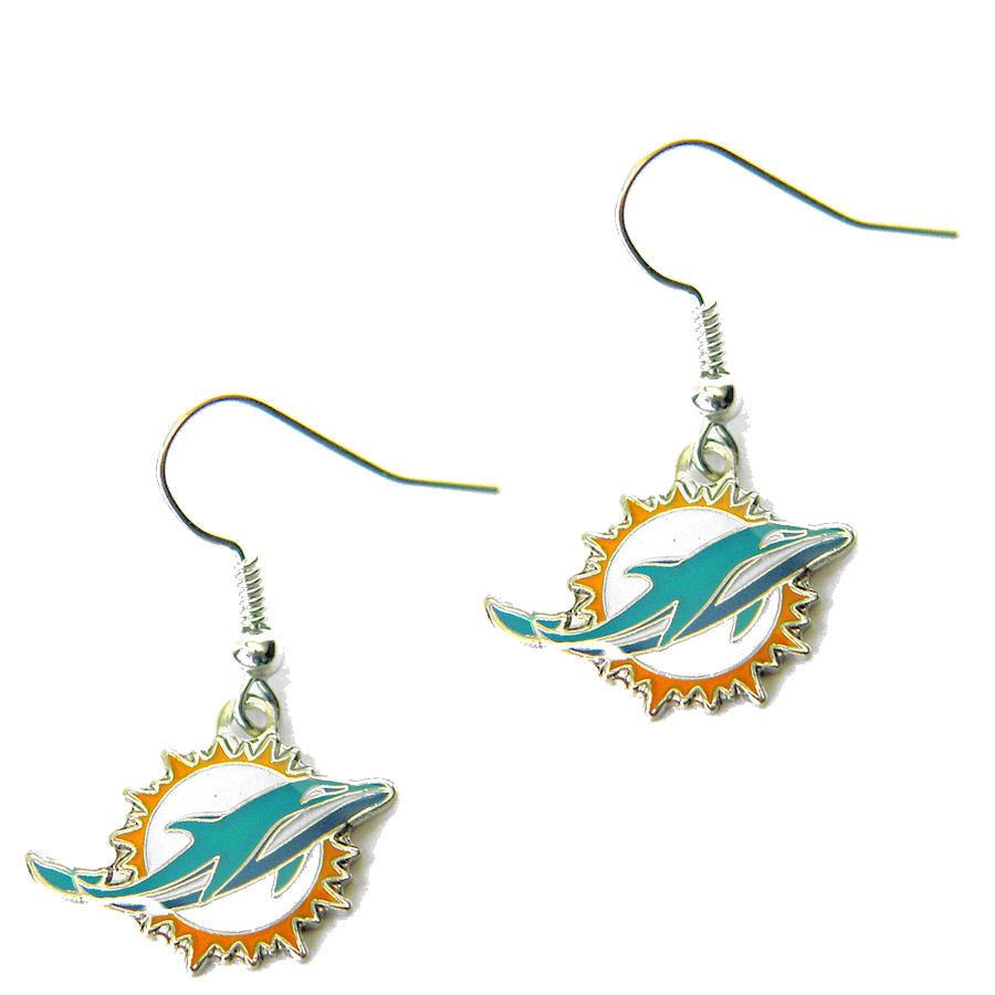 Miami Dolphins Dangle Earrings
