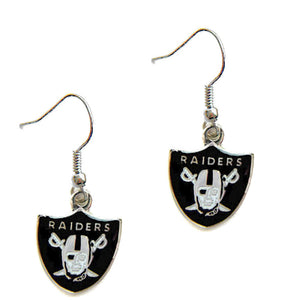 Las Vegas Raiders Dangle Earrings