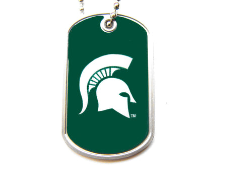 Michigan State Spartans Dog Tag Necklace