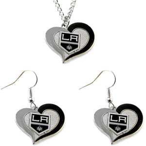 Los Angeles Kings Necklace & Earring Set