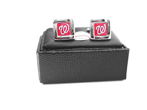Washington Nationals Cuff Links with Case