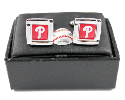 Philadelphia Phillies Cuff Links with Case