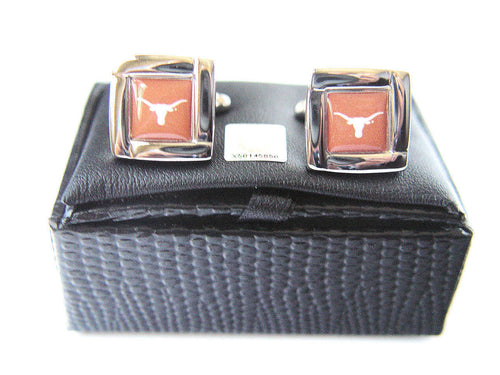 Texas Longhorns Cuff Links with Case